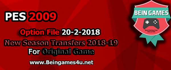 PES 2009 Option File Winter Transfers 2018 - PESGaming Forums
