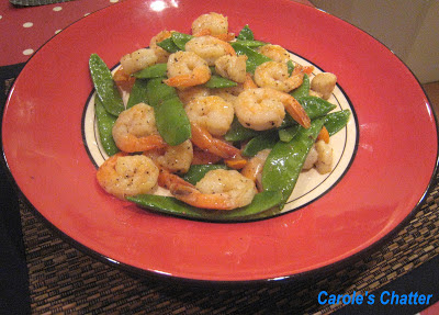 Carole's Chatter: Peppered Prawns with Snow Peas