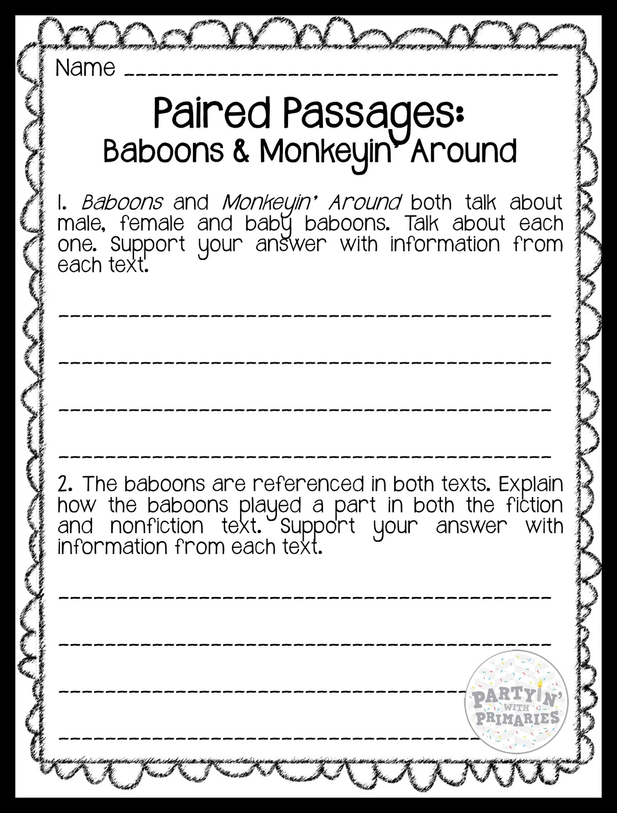 5th grade reading passages and multiple choice questions