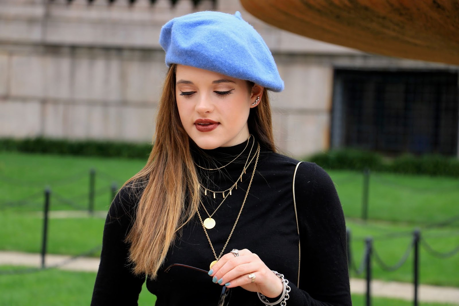 Nyc fashion blogger Kathleen Harper's beret outfit ideas