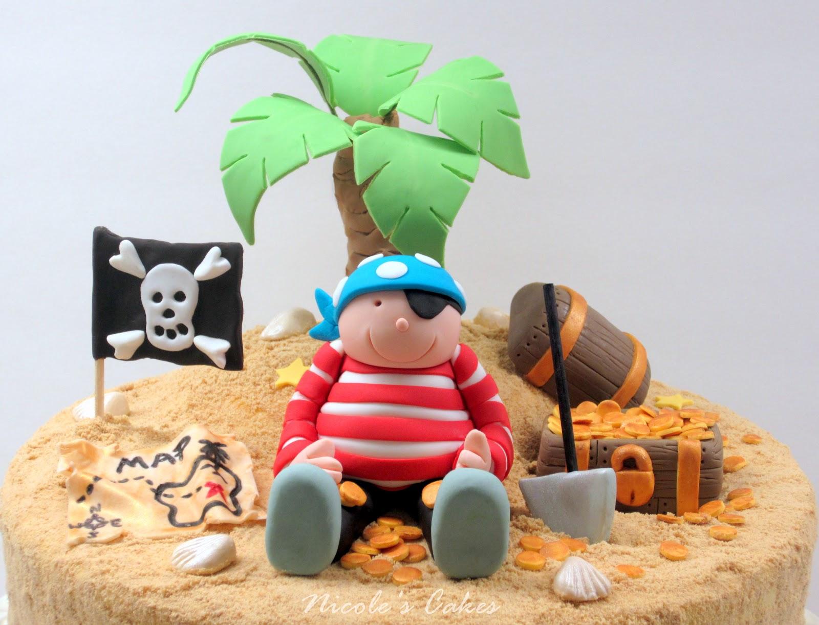 On Birthday Cakes Pirate On A Treasure Island