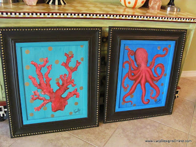 octopus and coral painting