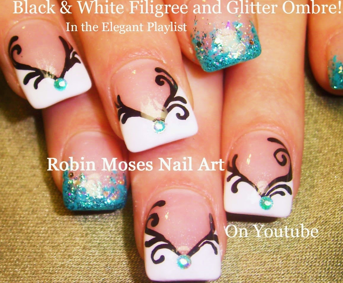 Nail Art By Robin Moses Bold Diy Prom Nails To Offset Simple