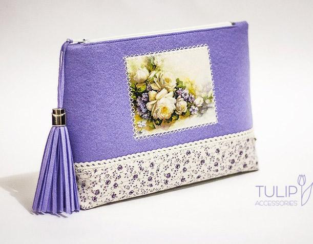 Vanity-Case of Felt and Fabric Tutorial