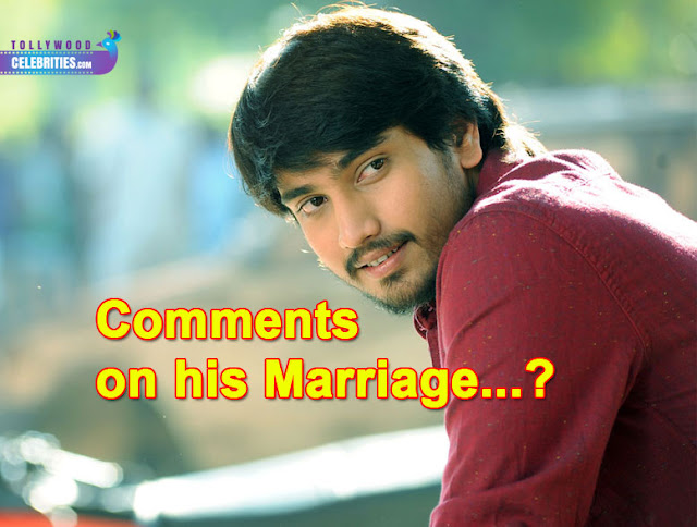 Raj Tarun Comments on his Marriage...?