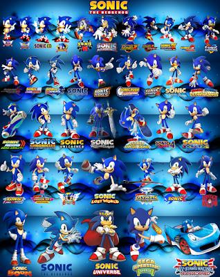 Evolución personaje Sonic