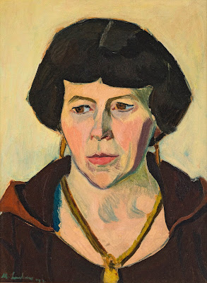 Portrait of a Woman with Necklace and Earrings, Maggie Laubser