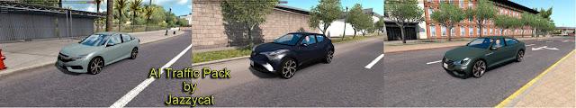 ats ai traffic pack v6.3 screenshots 1, Honda Civic Sedan '19, Toyota C-HR, Volkswagen Arteon