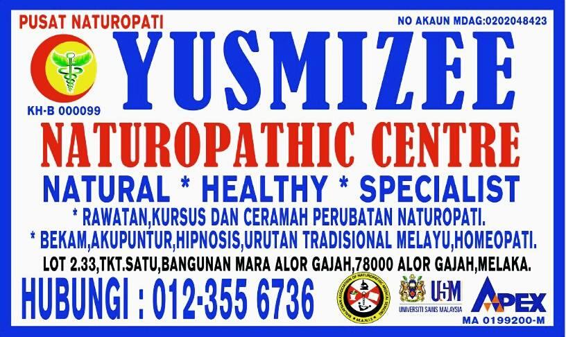 pusat naturopati yusmizee, yusmizee naturopathic centre, rawatan resdung, alamat