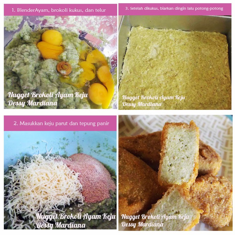 Nugget Ayam Brokoli Keju (Dessy Mardiana)