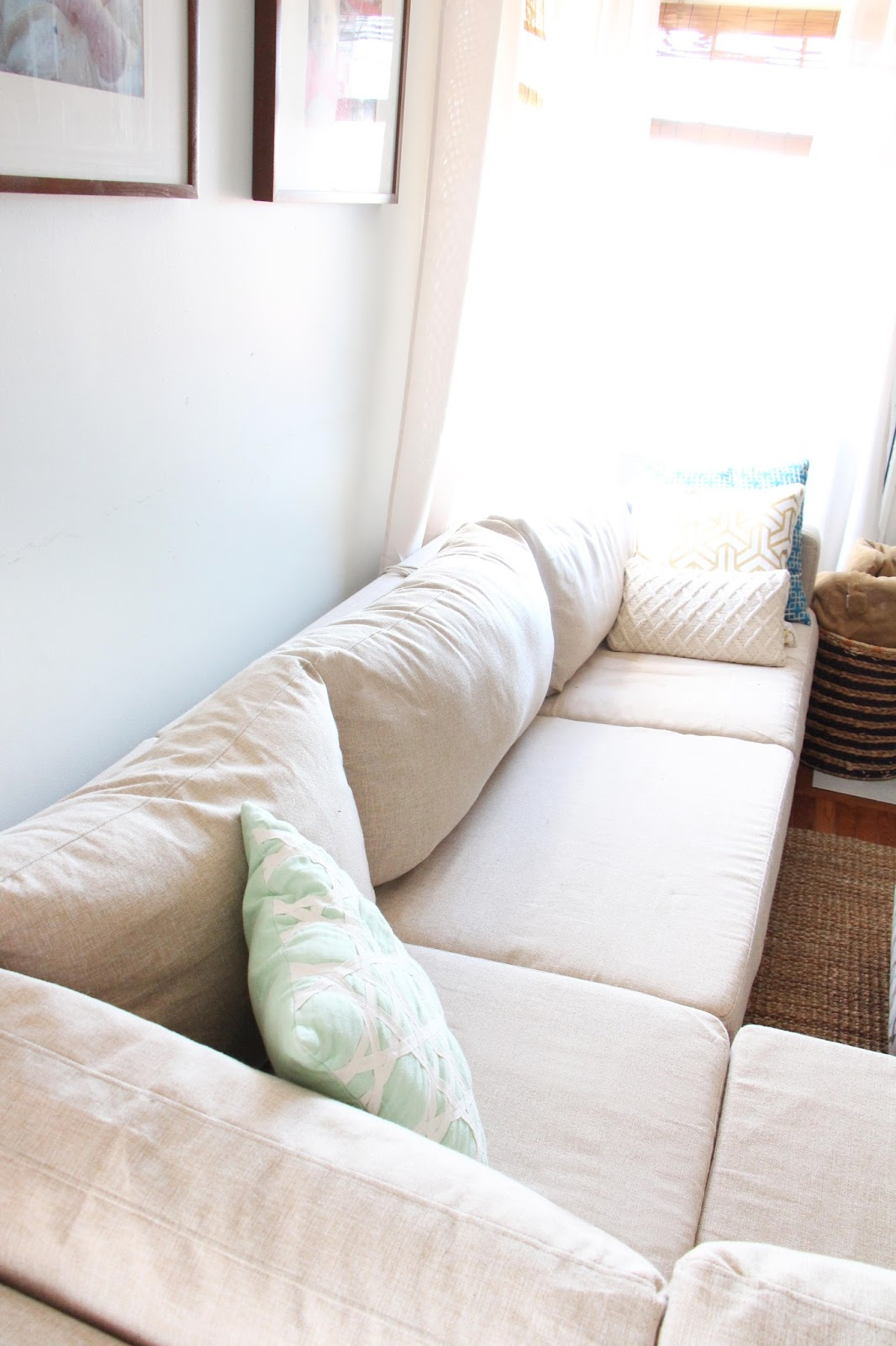 ekeskog sofa slipcover furniture sleeper grosgrain finally affordable ikea slipcovers