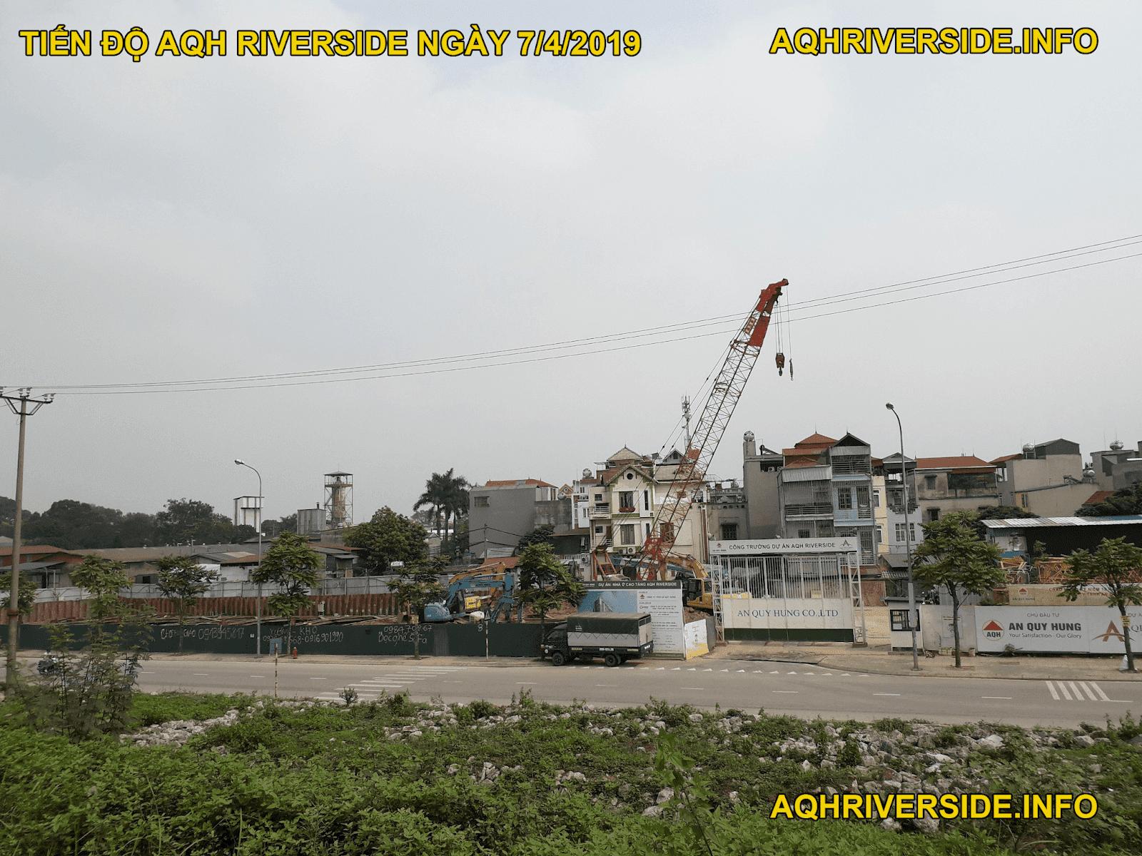 Tiến độ chung cư AQH Riverside tháng 4 năm 2019.