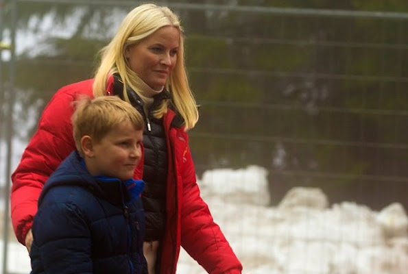 King Harald V of Norway, Queen Sonja of Norway and Crown Princess Mette Marit of Norway, Prince Sverre Magnus of Norway and Princess Ingrid Alexandra of Norway attend Holmenkollen FIS World Cup