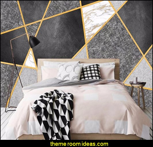 Geometric marble photo mural wallpaper