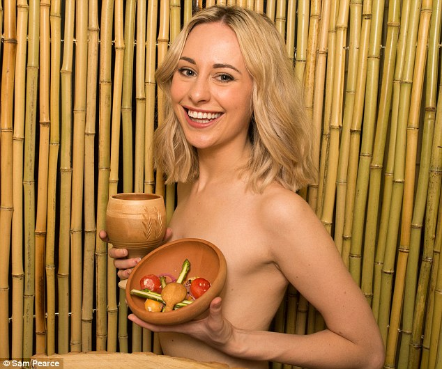 Apologise, but, Girl naked at restraunt