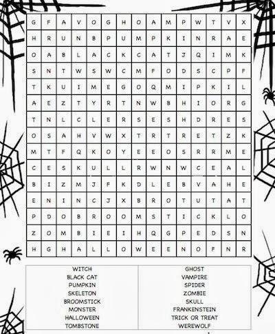 5 Hard Halloween Word Searches