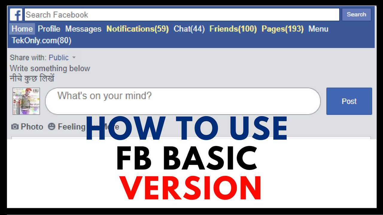 How To Use Facebook Basic Version In Any Browser