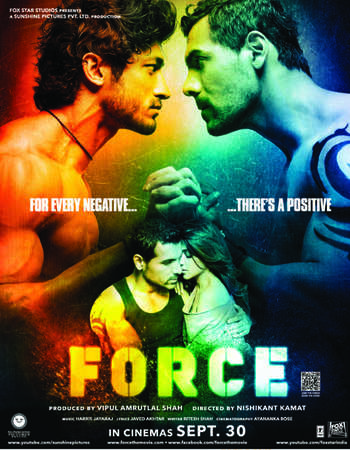 Force 2011 Hindi 550MB DVDRip 720p ESubs HEVC