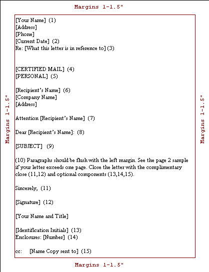 Formal Letter Format Sample Cc Krys Tk