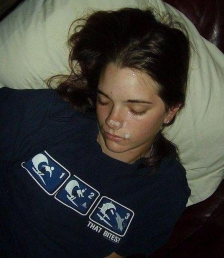 Facial Posted In Sleeping Teen 5