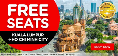 AirAsia Free Seats KL to Ho Chi Minh City