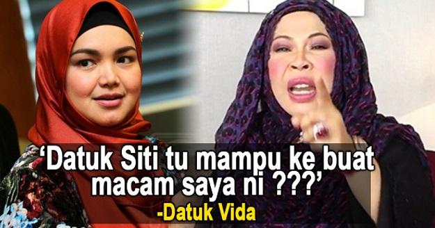 Datuk Vida Makin Berlagak, Berani Cabar Datuk Siti! Perlu Ke Nak Cakap Datuk Siti Macam Ni Ha?