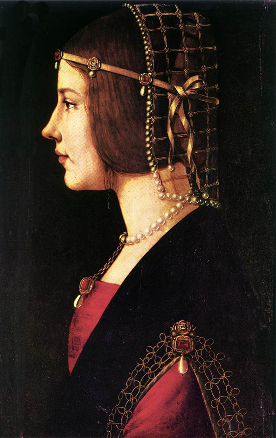Antique Italian Renaissance Miniature Portrait Ludovica Tornabuoni C1490 We Take Customers As Our Gods Antiques