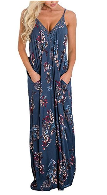 bohemian sundress with pockets