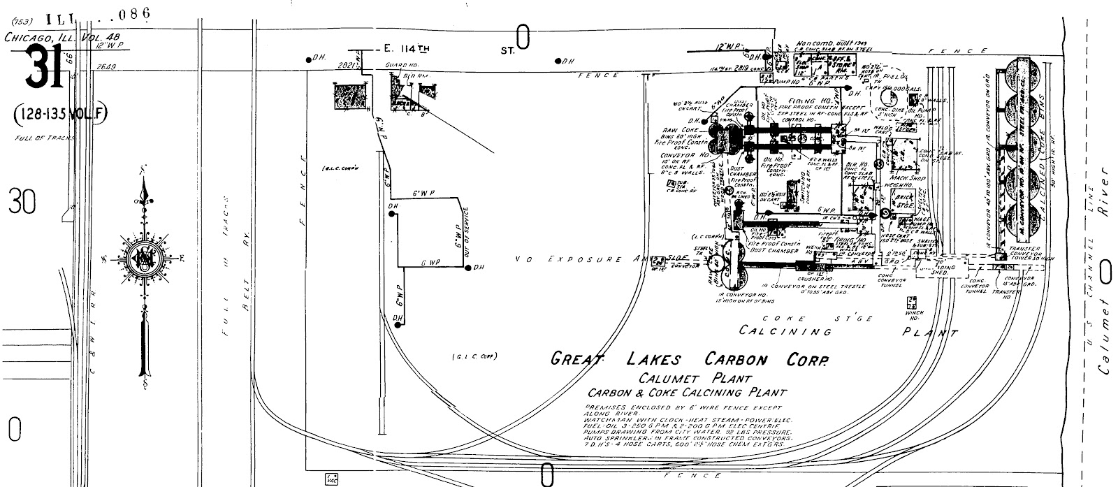 hight resolution of this aerial photo is from 1952 and details the c nw terminal area site 2 the corresponding sanborn coverage is just below the photo