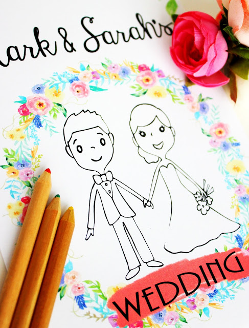 Wedding Coloring Book - NEW 2017 Designs - Kids Wedding Favor - Kids Wedding Coloring Pages