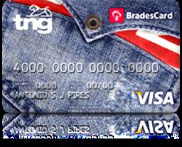 cartão TNG card Visa Nacional