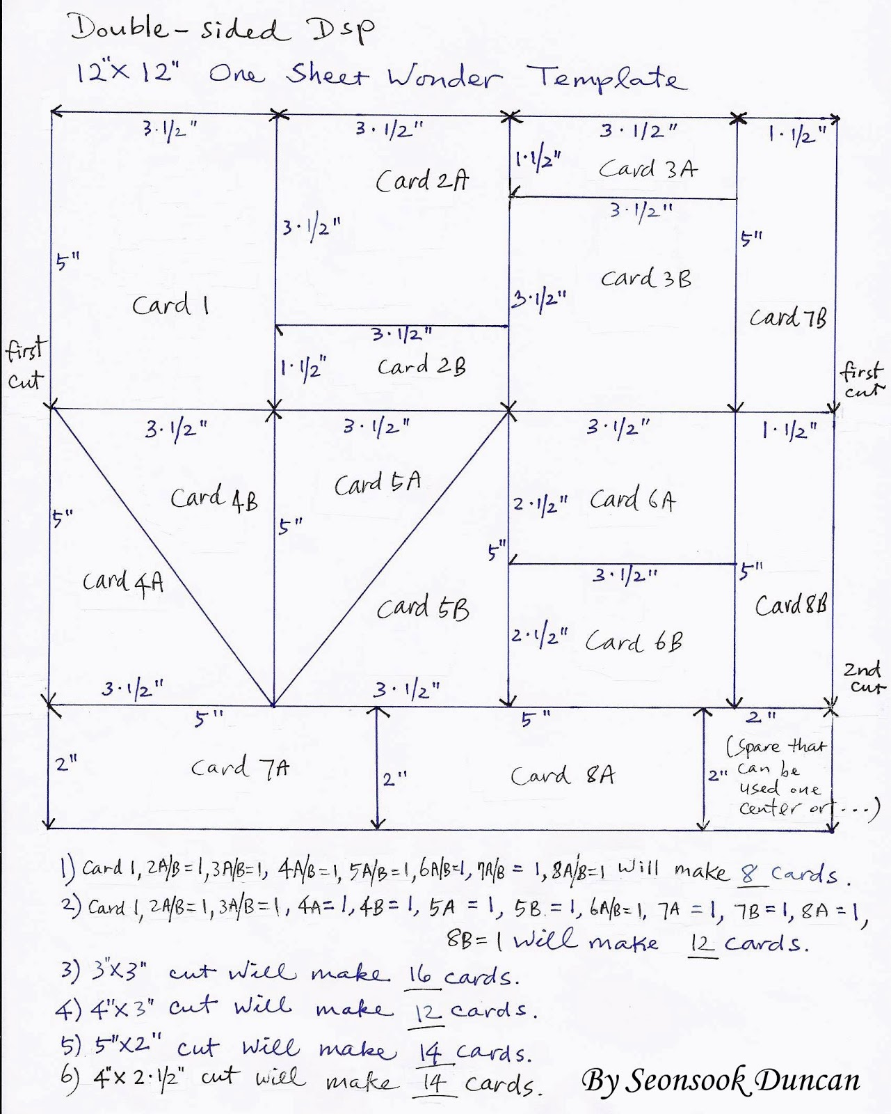 Create with Seongsook: One Sheet Wonder Template and ... - photo#1