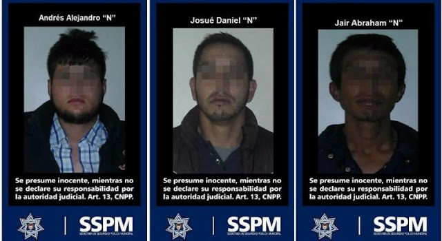 Capturan a tres presuntos miembros del cártel de Sinaloa