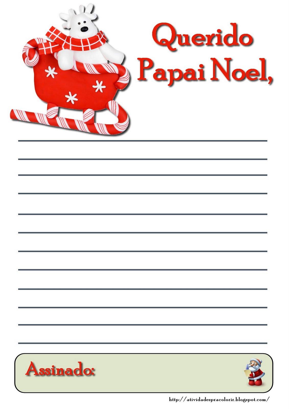7629c3c74e98 cartapapainoel04 773447 - Cartinhas para o Papai Noel - Atividades Natal