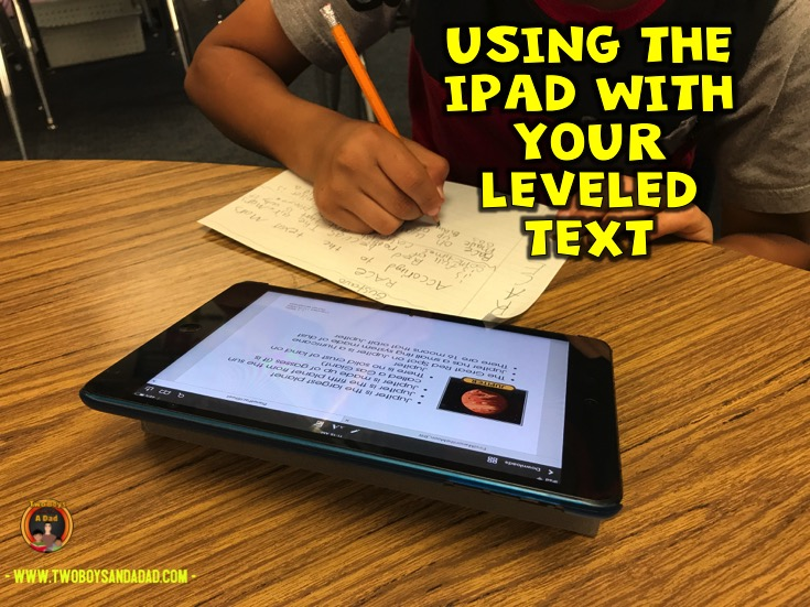 Using iPad with leveled text