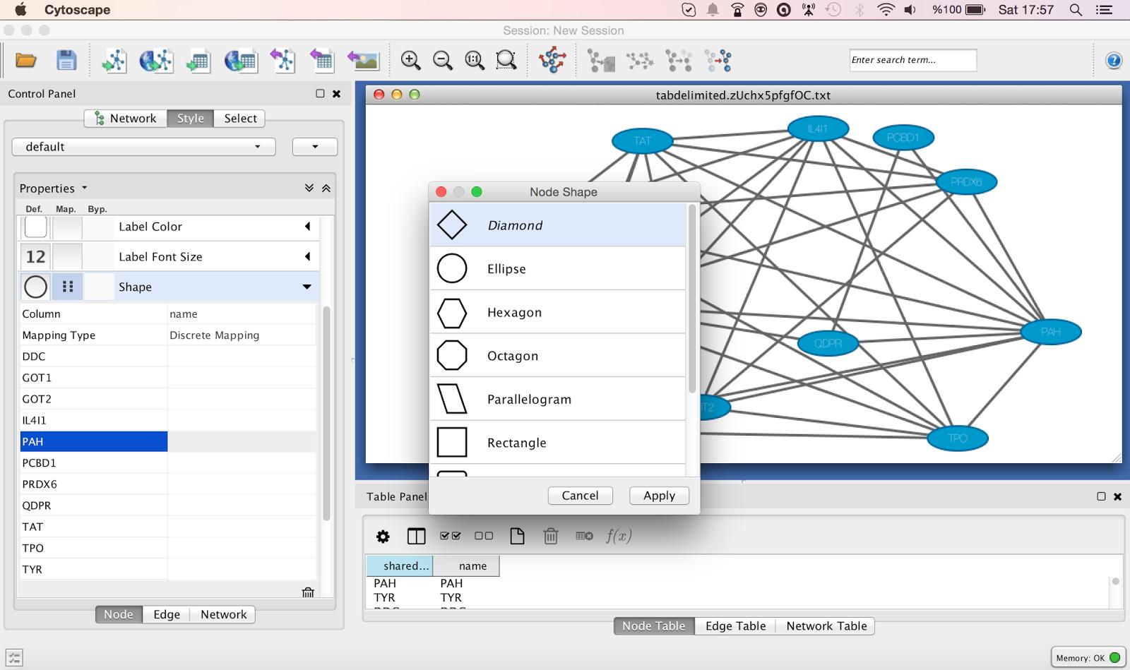 Evrimsel Biyoinformatik: Cytoscape [Network Analysis ...