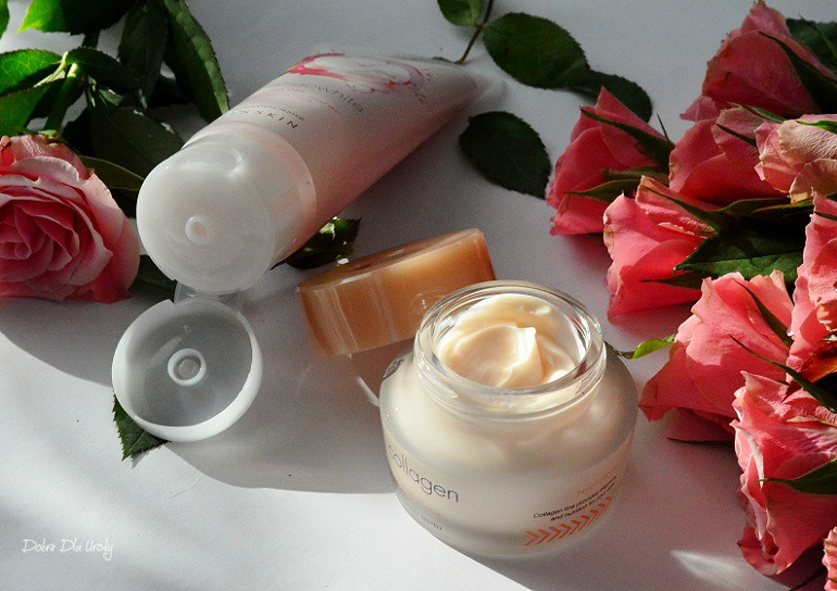 Koreańska pielęgnacja. Bestsellery It's Skin - Collagen Nutrition Cream i MangoWhite Peeling Gel  recenzja