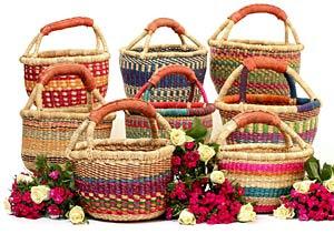 Ghana Bolga Mini Market Baskets