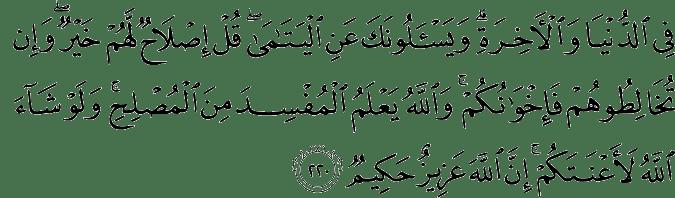 Surat Al-Baqarah Ayat 220