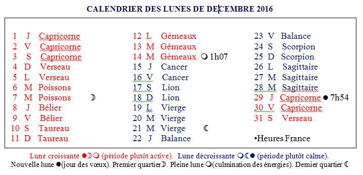 Horomag calendrier des lunes - Calendrier des lunes 2016 ...
