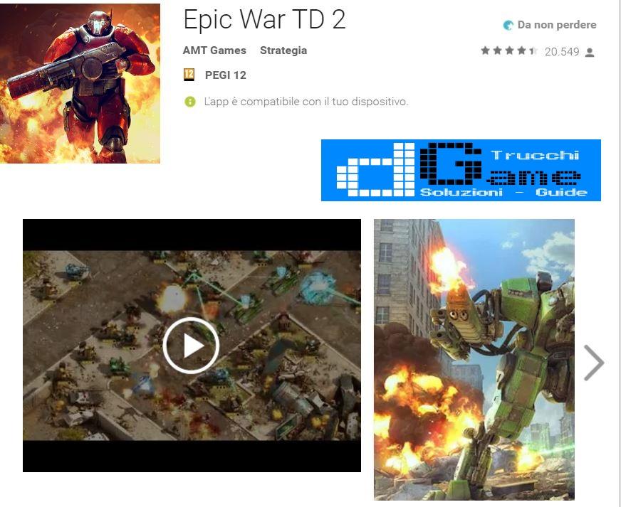 Trucchi Epic War TD 2 Mod Apk Android v1.04.4
