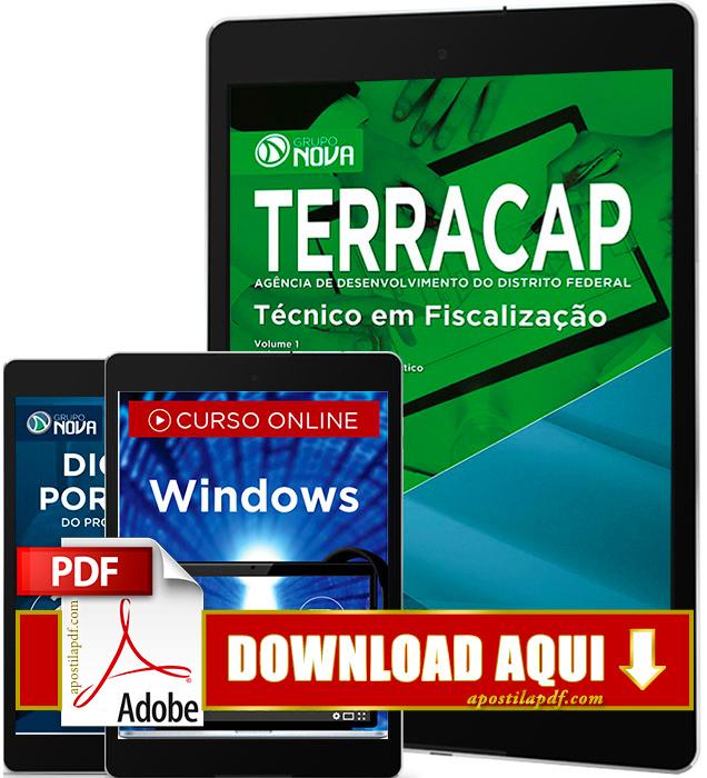 Apostila TERRACAP 2017 PDF Download Técnico em Fiscalização