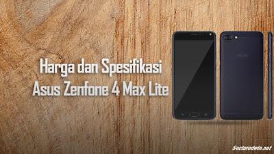 Harga dan Spesifikasi Lengkap Asus Zenfone 4 Max Terbaru