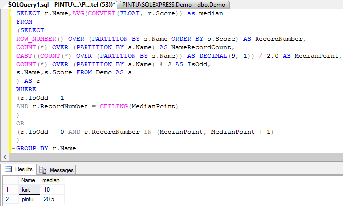 Calculate or find median group by in sql server asp calculate median group by in sql server ccuart Gallery