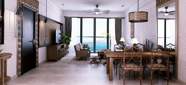 Phòng khách của dự án Beau Rivage