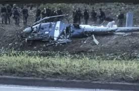 Helicóptero cai na comunidade da cidade de Deus - Rio de janeiro