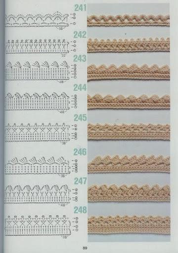 Biquinhos de Crochê Com Gráfico 4