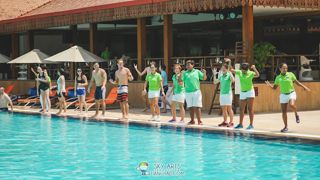 Pool Game at Club Med Cherating Beach