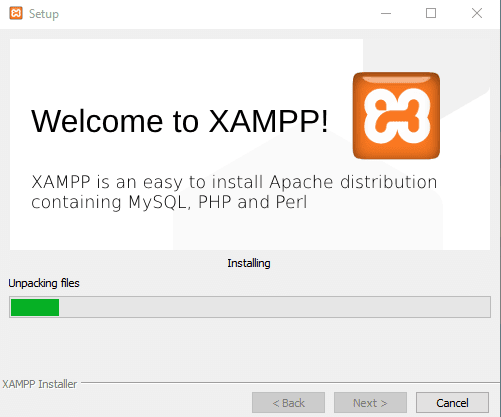Welcome to XAMPP Apache