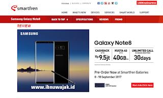 harga samsung galaxy note 8 Smartfren